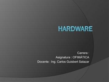 Diapositiva Hardware de computadoras