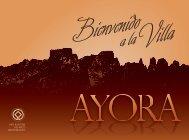 Folleto Turismo Ayora en formato PDF - Ayuntamiento de Ayora