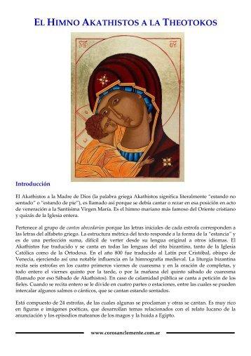 EL HIMNO AKATHISTOS A LA THEOTOKOS - coro san clemente i