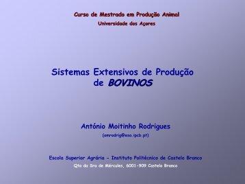 Sistemas Extensivos de Produção de Bovinos - Universidade dos ...