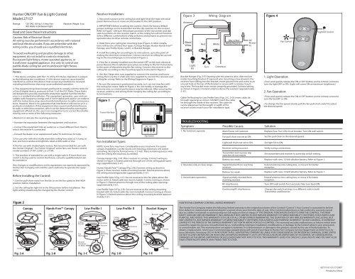 hunter fan remote wiring diagram 27157