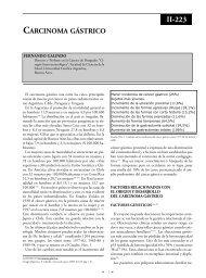 Carcinoma gástrico. - Sociedad Argentina de Cirugía Digestiva