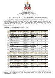 PS 2013 - Retificação I - Quadro de Ofertas - do Edital Nº 08 - Ceps ...
