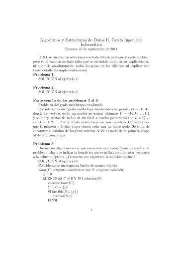 Algoritmos y Estructuras de Datos II, Grado Ingenier´ıa Informática