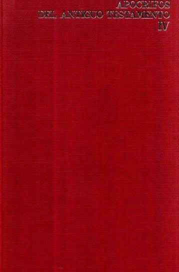 Apocrifos del Antiguo Testamento – Tomo IV, por ... - El Mundo Bíblico