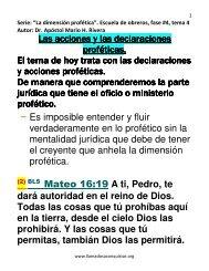 Las acciones y las declaraciones profeticas.pdf - Atalayas en Acción