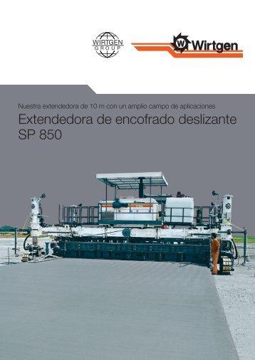 Extendedora de encofrado deslizante SP 850 - Wirtgen GmbH