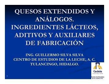 QUESOS EXTENDIDOS Y ANÁLOGOS. INGREDIENTES LÁCTEOS ...