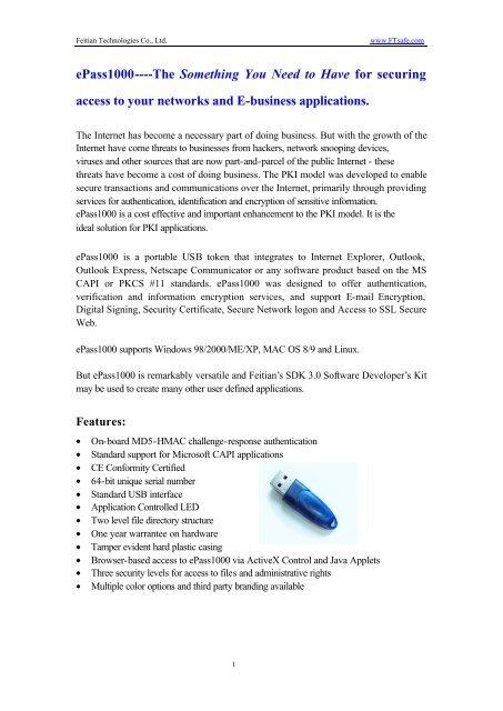 ePass1000 Token - RS-Computer