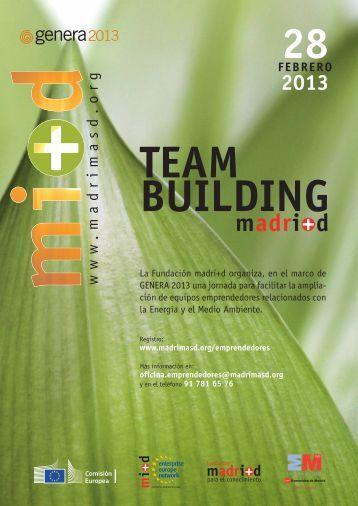 programa extendido team building 2013 - Madri+d