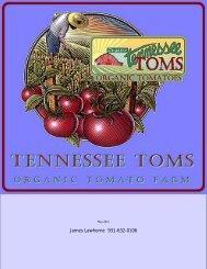 Tennessee Toms Organic Tomato Farm - index