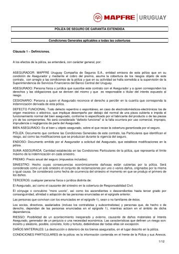 Garantias Extendidas - Mapfre