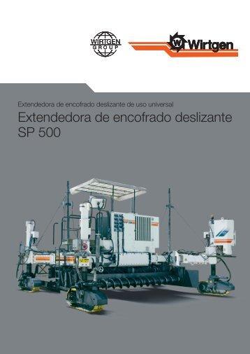 Extendedora de encofrado deslizante SP 500 - Wirtgen GmbH