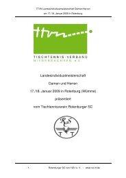 Programmheft - Tischtennis beim Rotenburger SC