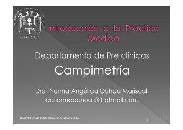 S9 Movimientos oculares, Campimetría, manejo del oftalmoscopio ...