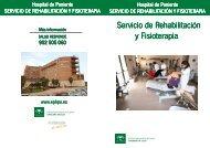 Información al usuario de Rehabilitación y Fisioterapia.