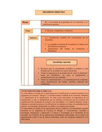 Aprendizajes esperados - Reforma de la Educación Secundaria