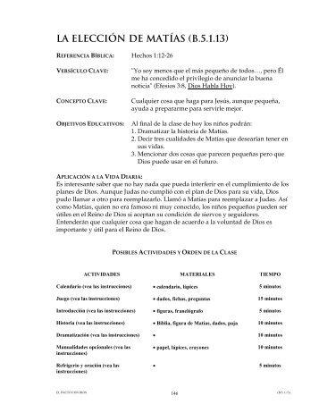 LA ELECCIÓN DE MATÍAS (B.5.1.13)