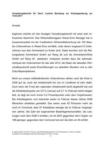 Kreistagssitzung 15.03.2012 - Landkreis Ammerland