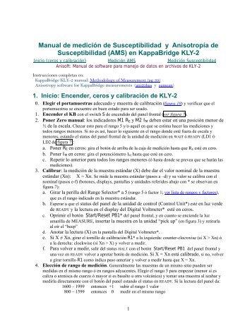 Bajar Manual corto en español de KLY2 en pdf