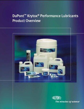 Aceites y grasas Krytox - DuPont