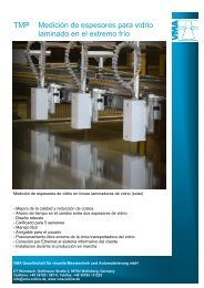 TMP Medición de espesores para vidrio laminado en el lado caliente