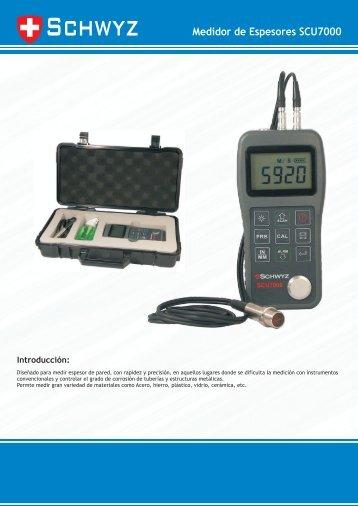 Medidor de Espesores SCU7000.cdr - instrumental cuyo
