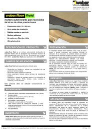 mortero autonivelante para recrecidos técnicos de altas ... - Weber