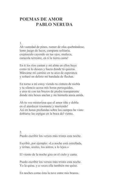 Poema Pablo Neruda Amor Frase De Amor