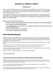 NOVENA AL ESPÍRITU SANTO - RCC Argentina