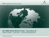 Der RWB Global Market Fonds • Secondary III Reifes ... - RWB AG