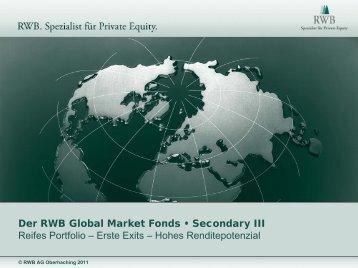 Der RWB Global Market Fonds • Secondary III Reifes ... - RWB AG