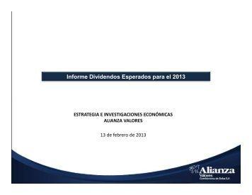 Dividendos esperados 2013 - Alianza Valores