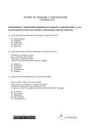 prueba de lenguaje y comunicación facsímil n°5 - Universia
