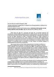 1 Lilia Ana Bertoni (Instituto Ravignani, UBA ... - Historia Política