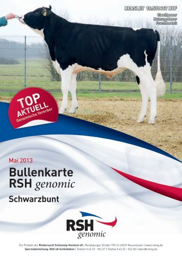 Genomischer Flyer Sbt. 2013 - Rinderzucht Schleswig-Holstein e.G.