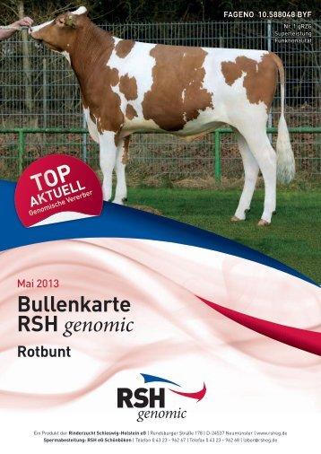 Genomischer Flyer Rbt. 2013 - Rinderzucht Schleswig-Holstein e.G.
