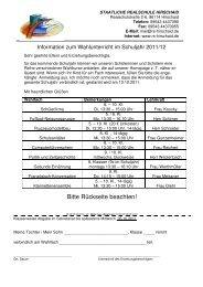 2011-12 Wahlkurse - Staatliche Realschule Hirschaid