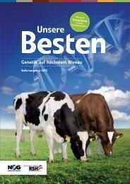 RSH Bullenkatalog 2013 - Rinderzucht Schleswig-Holstein e.G.