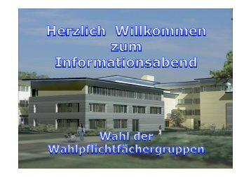 Ablauf des heutigen Abends - Staatliche Realschule Hirschaid