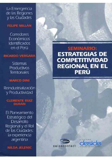 Seminario: Estrategias de Competitividad Regional ... - Swisscontact