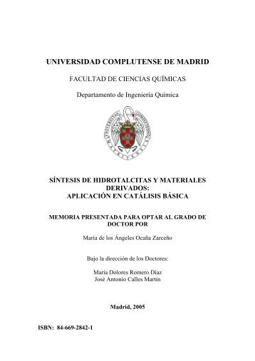 UNIVERSIDAD COMPLUTENSE DE MADRID - Biblioteca de la ...
