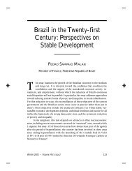 Brazil in the Twenty-first Century: Perspectives on Stable Development