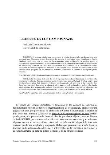 LEONESES EN LOS CAMPOS NAZIS - Dialnet