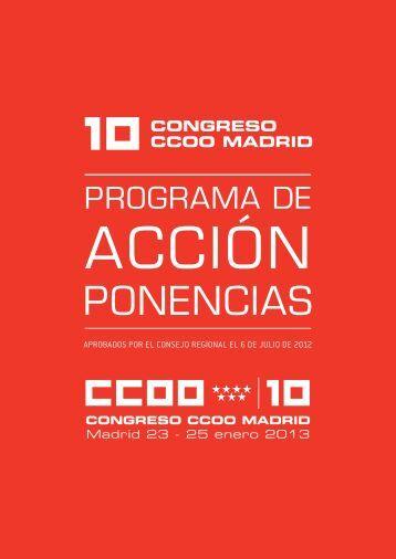 Ponencias 10º Congreso de CCOO Madrid - Comisiones Obreras ...