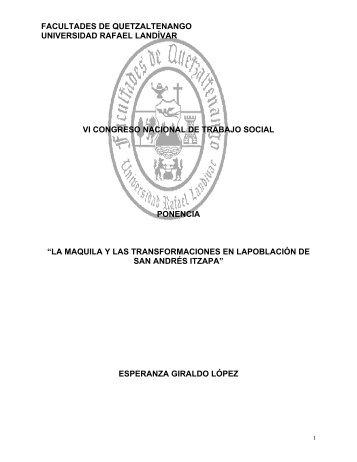 GIRALDO LÓPEZ, E., (2005), La maquila y las - Universidad Rafael ...