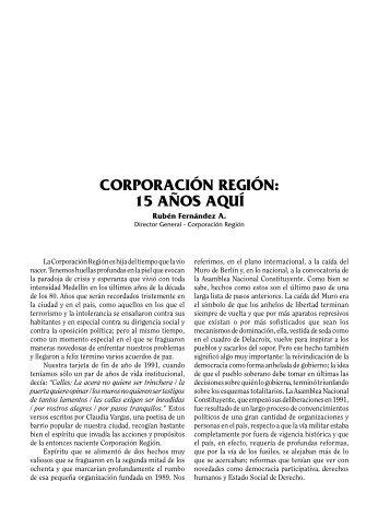 1 corporación región - Banco de análisis de politicas públicas