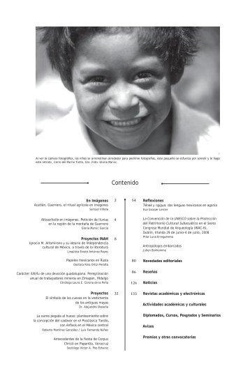 Contenido - Coordinación Nacional de Antropología - Instituto ...
