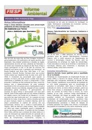 Informativo de Meio Ambiente da Fiesp Edição nº 84 – Ano VIII – Maio 2013