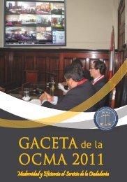 GACETA OCMA 2011 - OCMA - Poder Judicial